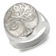 Jewelry Symbol Tree of Life-Ring-Mother of Pearl White- Sterling Silver-Unisex