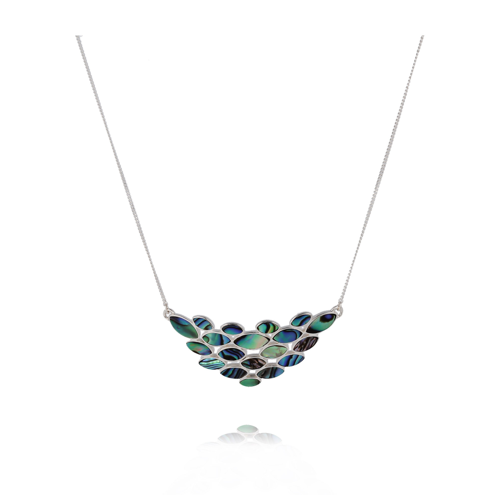 925 Sterling Silver Abalone Mother-of-pearl Necklace