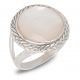 Gift jewelry-Ring-white mother of pearl-Sterling Silver-Women