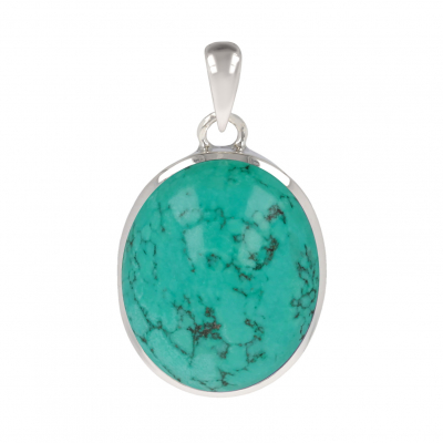 original gift woman-Fine Stones-Pendant-Turquoise Stone-Sterling Silver-Woman