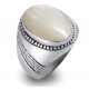 Vintage style ring in sterling silver and mother of pearl