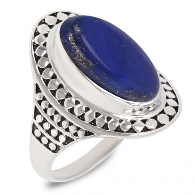 Gift Idea Mom-Ring- lapis lazuli Stone-Sterling Silver-Woman-Blue