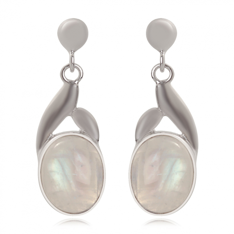 Moonstone Earrings Sterling Silver 925