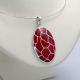 TURTLE BACK CORAL STERLING SILVER PENDANT