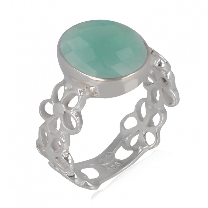 925 Sterling Silver Apatite Ring