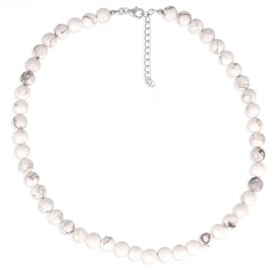 925 Sterling Silver Howlite Necklace