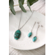 original gift woman Necklace woman Turquoise and rhodium silver 925-000
