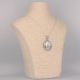 Mother-of-pearl pendant and solid silver face shape with turban