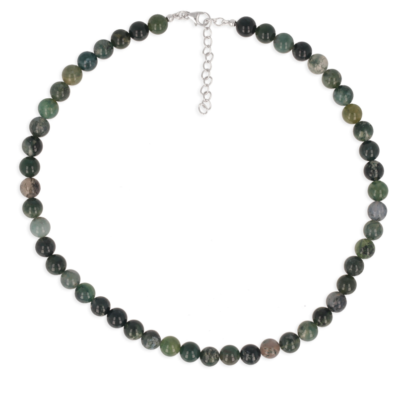 925 Sterling Silver Agate Necklace