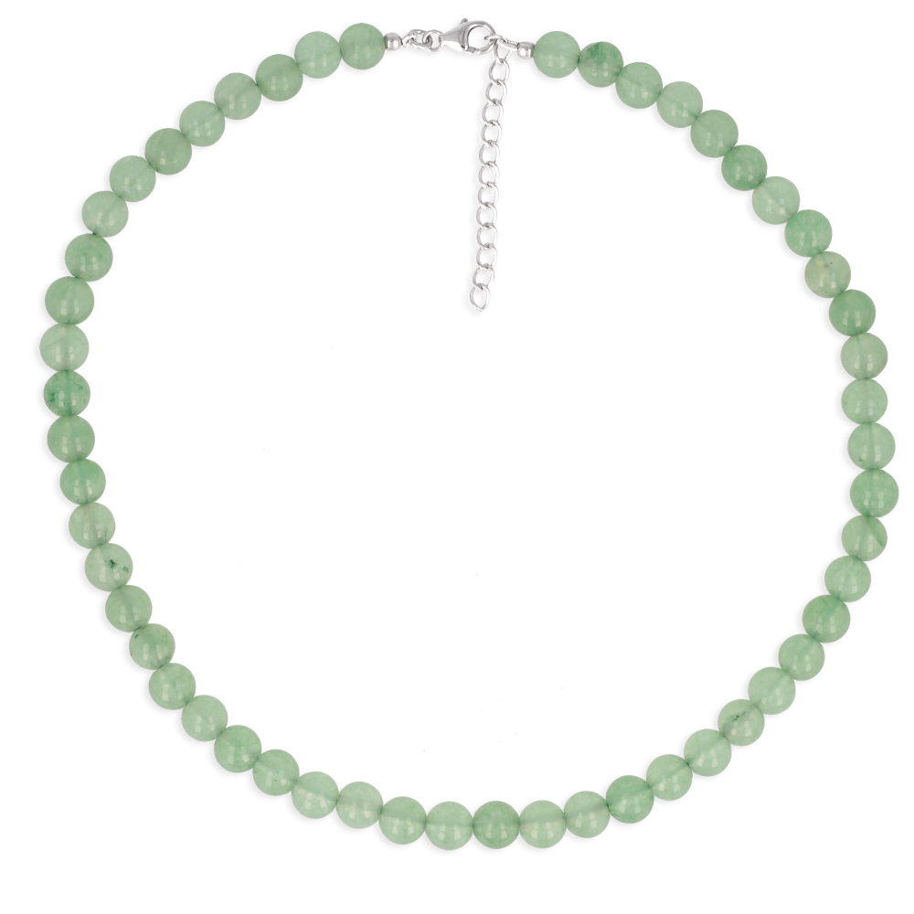Woman necklace aventurine stone green stones