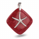 Pendant starfish coral and silver 925 K