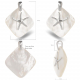 Pendant starfish mother of pearl white and silver 925 K