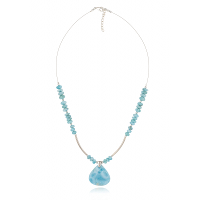 Collier Pierre Larimar