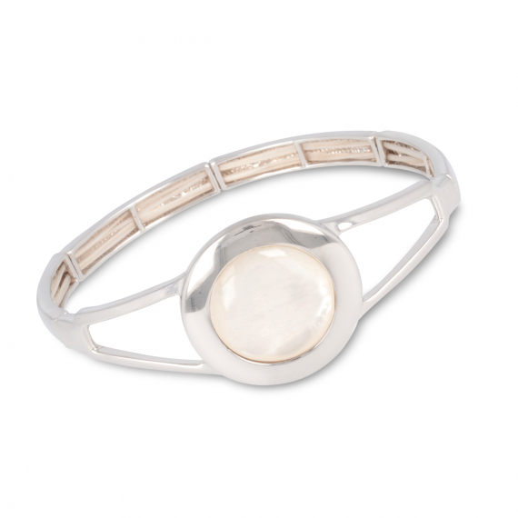 925 Sterling Silver white mother-of-pearl bracelet