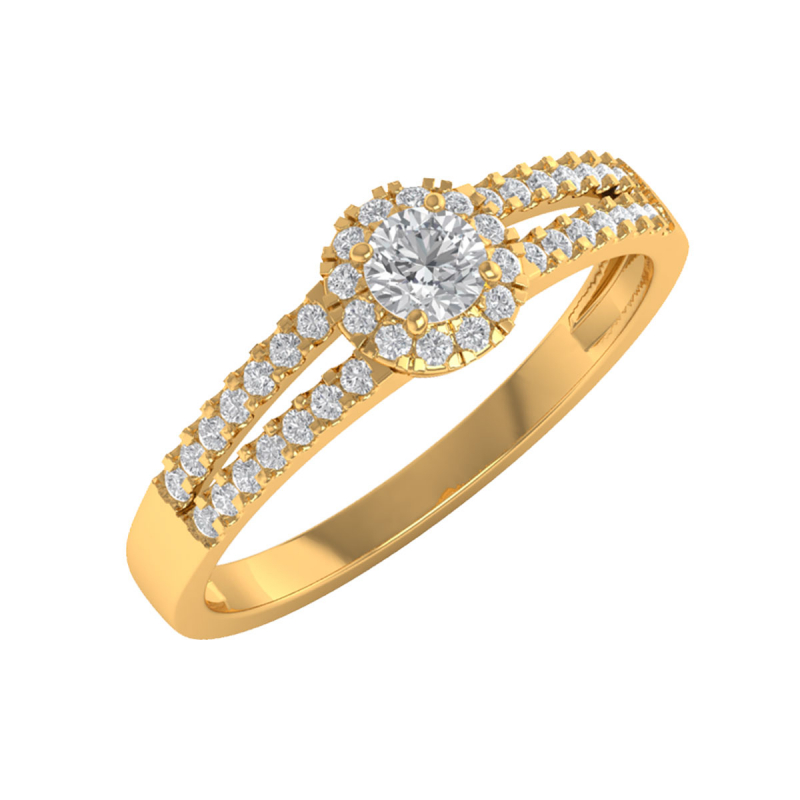 Gold Diamonds Ring 1.902grs