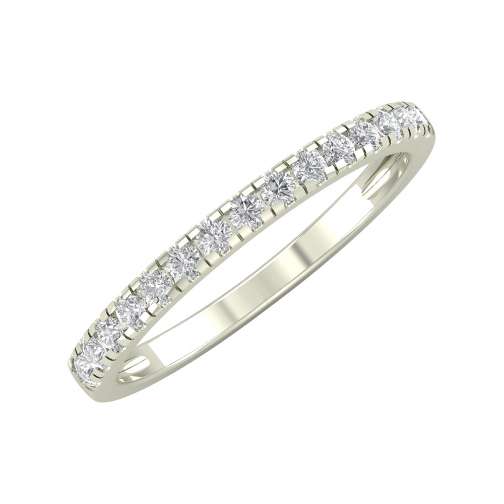 Bague Or 750 Blanc Diamants 1.57grs