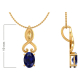 14K Gold Sapphire Necklace Pendant Gold Chain included