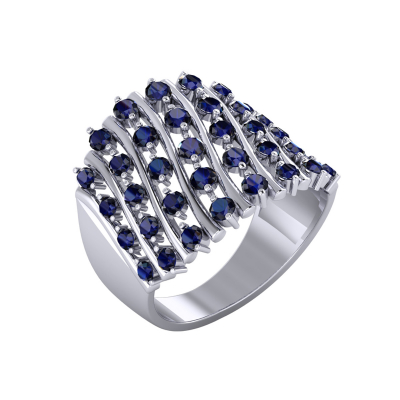925 Silver Sapphire Ring