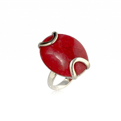 Coral Rings 925 Sterling Silver