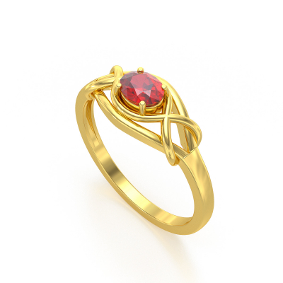 Bague Or Jaune Rubis 1.870grs