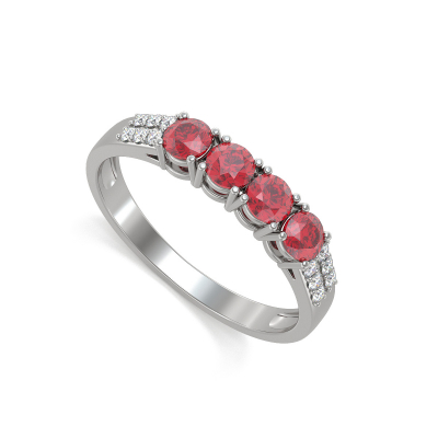 Gold Ruby Diamonds Ring