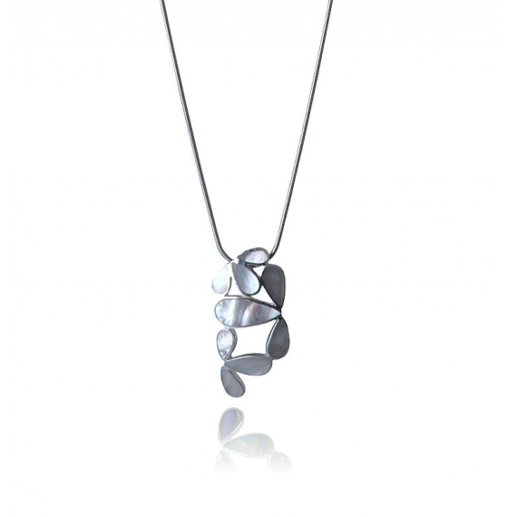 925 Sterling Silver White Mother-of-pearl Pendant